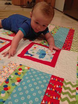 Dean on quilt 1