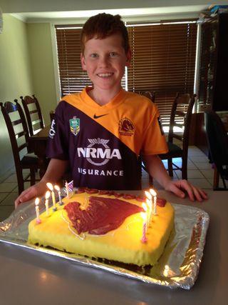 Lachlan's Broncos cake